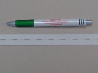 2 cm széles lyukas gumi, fehér (8808)