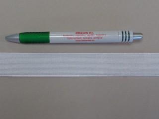 2,5 cm-es gumiszalag, fehér (8812)