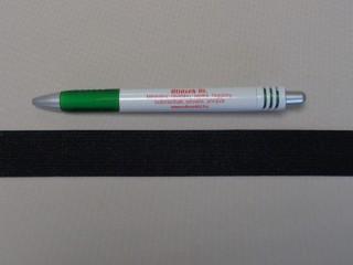 2,5 cm-es gumiszalag, fekete (8813)