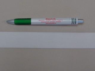 3 cm-es gumiszalag, fehér (8814)