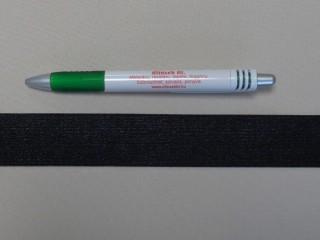 3 cm-es gumiszalag, fekete (8815)