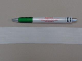 3,5 cm-es gumiszalag, fehér (8816)
