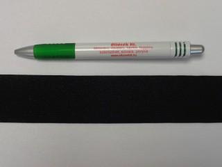 3,5 cm-es gumiszalag, fekete (8817)
