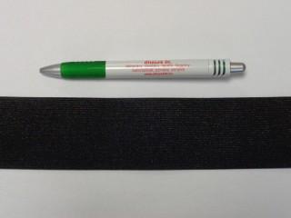 5 cm-es gumiszalag, fekete (8819)