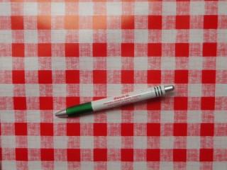Viaszos vászon, piros-fehér kockás (8846)