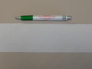 7,5 cm-es gumiszalag, fehér (8864)