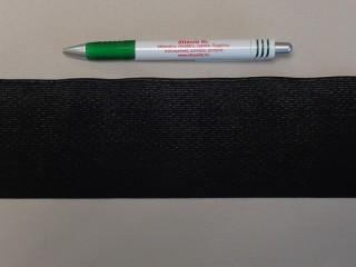 7,5 cm-es gumiszalag, fekete (8865)