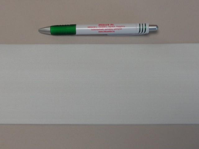 10 cm-es gumiszalag, fehér (8866)