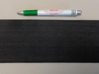 10 cm-es gumiszalag, fekete (8867)