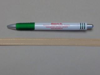 Melltartó gumi, bézs, 12 mm széles (8868)