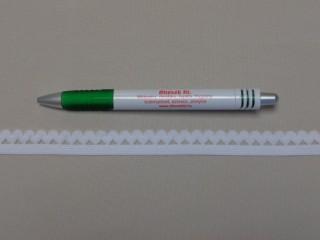 Csipkegumi, fehér, 15 mm széles (8885)