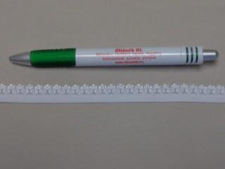 Csipkegumi, fehér, 12 mm széles (8886)