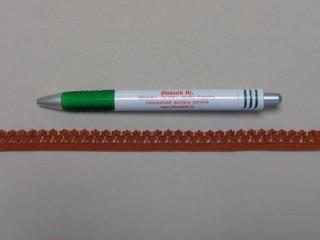 Csipkegumi, barna, 13 mm széles (8889)