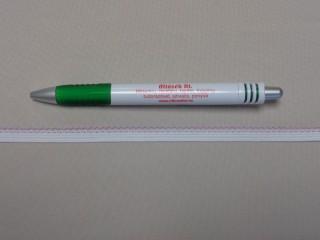 Csipkegumi, fehér lila széllel, 9 mm széles (8890)