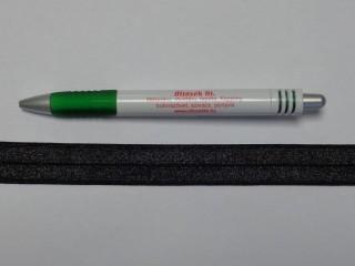 Szegő (ipszilon) gumi, fekete, 20 mm széles (8891)