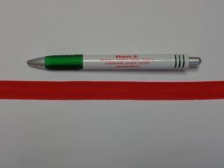 Szegő (ipszilon) gumi, piros; 16 mm széles (8894)