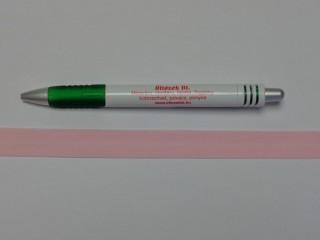 Szegő (ipszilon) gumi, rózsaszín; 16 mm széles (8897)