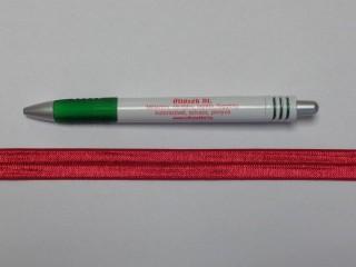Szegő (ipszilon) gumi, bordó; 16 mm széles (8898)