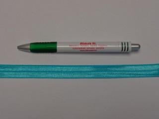Szegő (ipszilon) gumi, türkiz; 16 mm széles (8900)