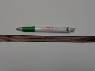 Szegő (ipszilon) gumi, barna; 16 mm széles (8903)