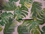 Loneta, zöld nagyleveles és pálmaleveles kerti bútor vászon (8971)