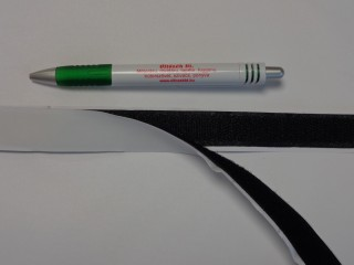 Öntapadós tépőzár párban, 2 cm széles, fekete (8973)