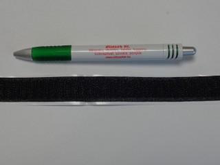 Öntapadós tépőzár, csak a horgos fele, 2 cm széles, fekete (8974)