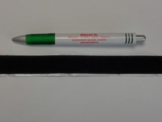 Öntapadós tépőzár, csak a puha fele, 2 cm széles, fekete (8975)