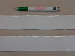 Öntapadós tépőzár párban, 4 cm széles, fehér (8976)