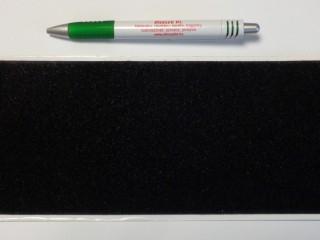 Öntapadós tépőzár, csak a puha fele, 10 cm széles, fekete (8977)