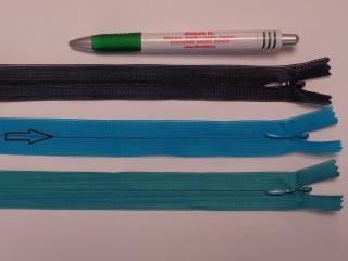 Rejtett cipzár, 20 cm-es, kék (9020)