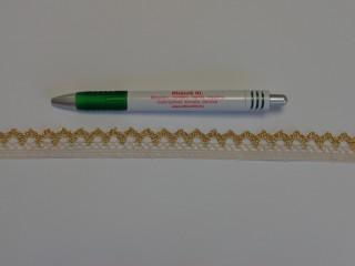 Díszítő csipke, drapp-arany (9071)