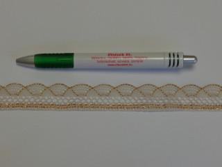 Díszítő csipke, drapp-arany (9072)
