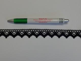 Díszítő csipke, fekete (9076)