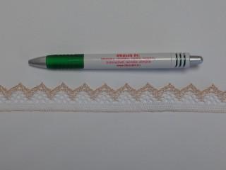 Díszítő csipke, fehér-ekrü (9082)