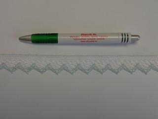 Díszítő csipke, fehér-barna (9083)