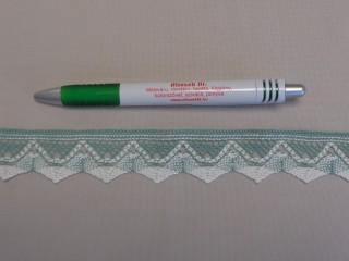 Díszítő csipke, zöld-fehér (9090)