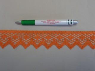 Díszítő csipke, narancs (9091)