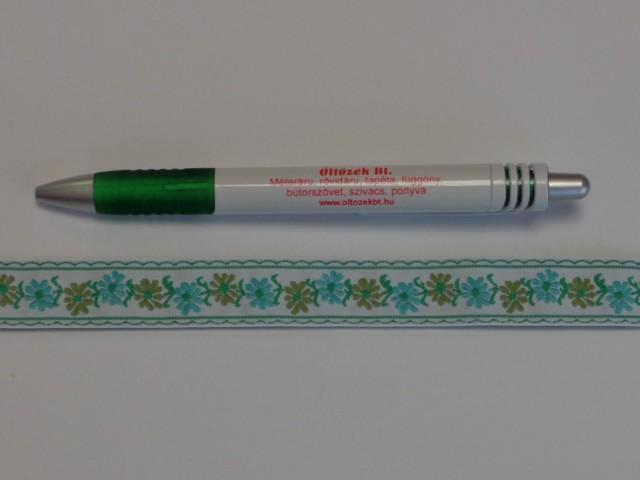 1,8 cm széles hímzett szalag, fehér (9101)