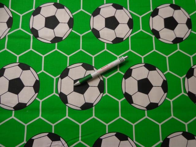 Gyerekmintás pamutvászon, focilabdás (9130)