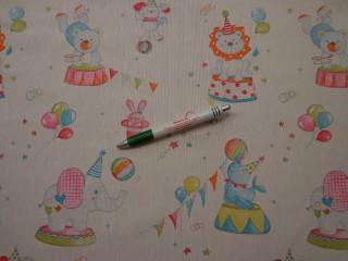 Loneta, cirkusz mintás kerti bútor vászon (9136)
