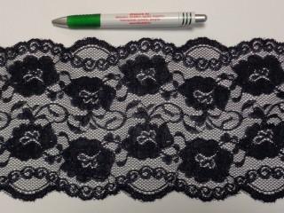 Rugalmas csipke, sötétkék, 15 cm széles (9146)