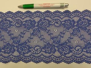 Rugalmas csipke, kék, 15 cm széles (9147)