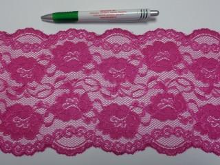 Rugalmas csipke, pink, 15 cm széles (9153)