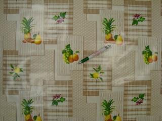 Viaszos vászon, drapp-fehér alapon gyümölcsös (9172)