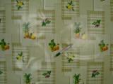Viaszos vászon, zöld-fehér alapon gyümölcsös (9173)