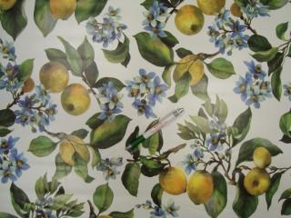 Viaszos vászon, virágos-citromos (9180)