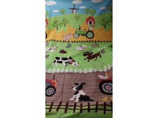 Gyerekmintás pamutvászon, farmos (9243)
