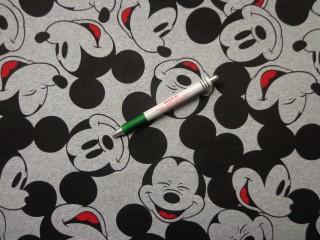 Sztreccs futter, szürke alapon Mickey egeres (9246)