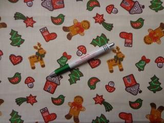 Karácsonyi karton, fehér alapon mézeskalácsos (9282)